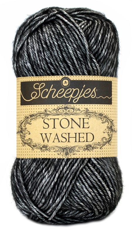 scheepjes stone washed yarn black onyx